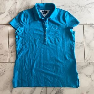 Short sleeve semi-fitted polo